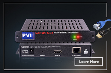 Explore h264 h265 hevc iptv internet streaming video encoder VeCASTER HEVC PVI ProVideoInstruments