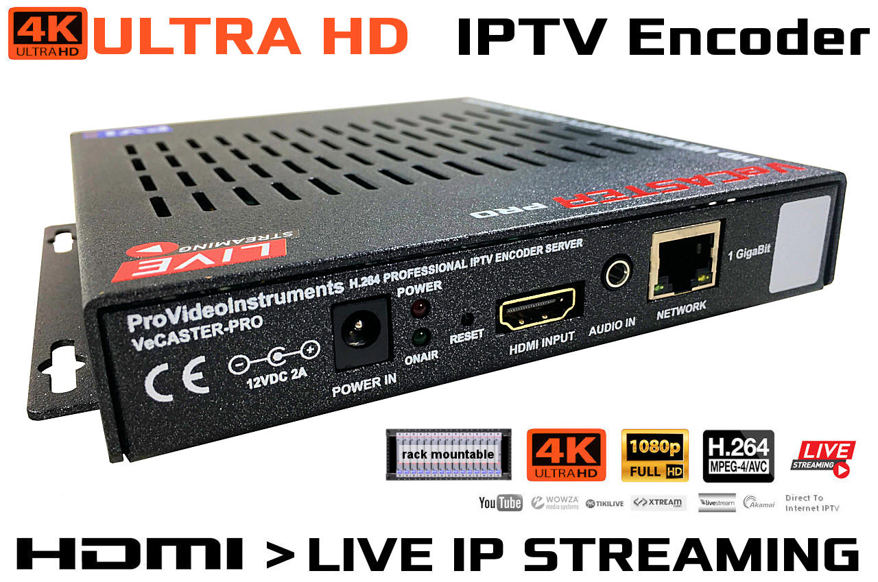 Vecaster Pro 4k 1 Channel 4k Hdmi 2 0 Uhd To Iptv H 264