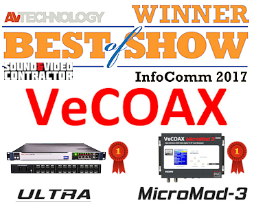 provideoinstruments vecoax ultra and vecoax micromod 3 wins the best of the show prize at infocomm 2017 in orlando