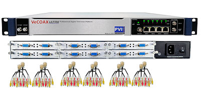 36 channels cvbs composite av digital rf modulator for qam atsc dvbt isdbt video distribution over coax and ip streaming vecoax pro 36 av pvi