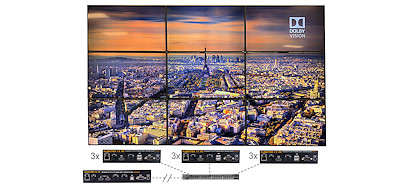 3x3 4k video wall system with 4k hdmi extender over ip pip=picture in picture mosaic rotation and free app control vumatrix fx 3x3 pvi