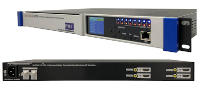 4 channel hdmi modulator to qam atsc isdbt dvbt hdmi extender splitter over coax to multiple tv vecoax ultra 4 pvi
