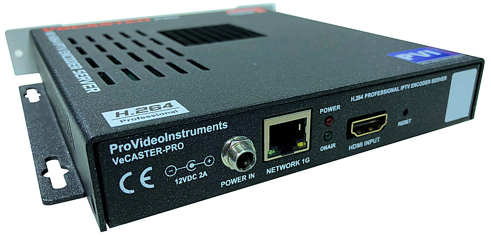 VeCASTER HDMI IPTV Streaming professional H.264 LIVE STREAMING HARDWARE ENCODER