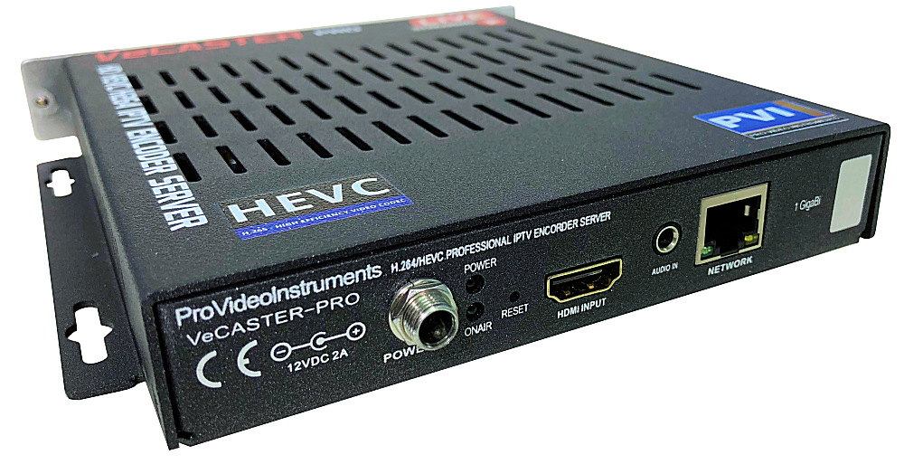 VeCASTER HDMI IPTV Streaming professional HEVC H.264 LIVE STREAMING HARDWARE ENCODER