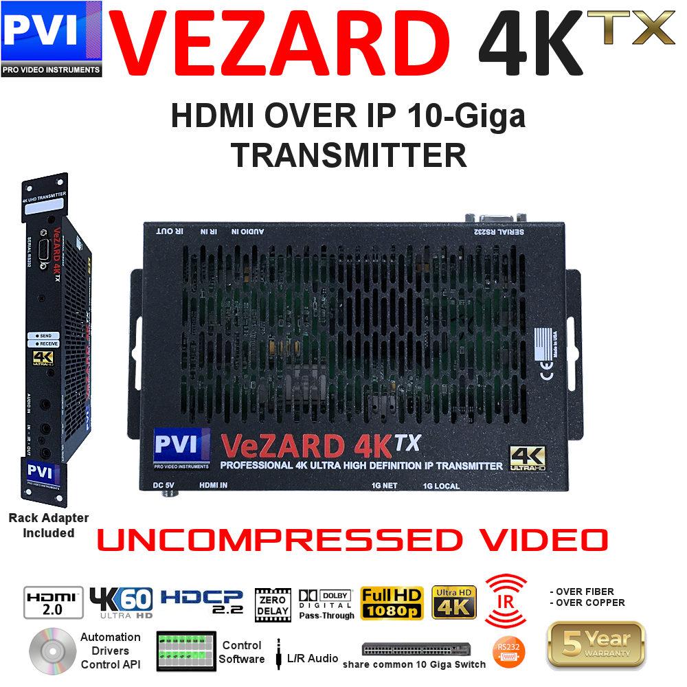 VEZARD 4K Uuncompressed HDMI Over IP 10G Video