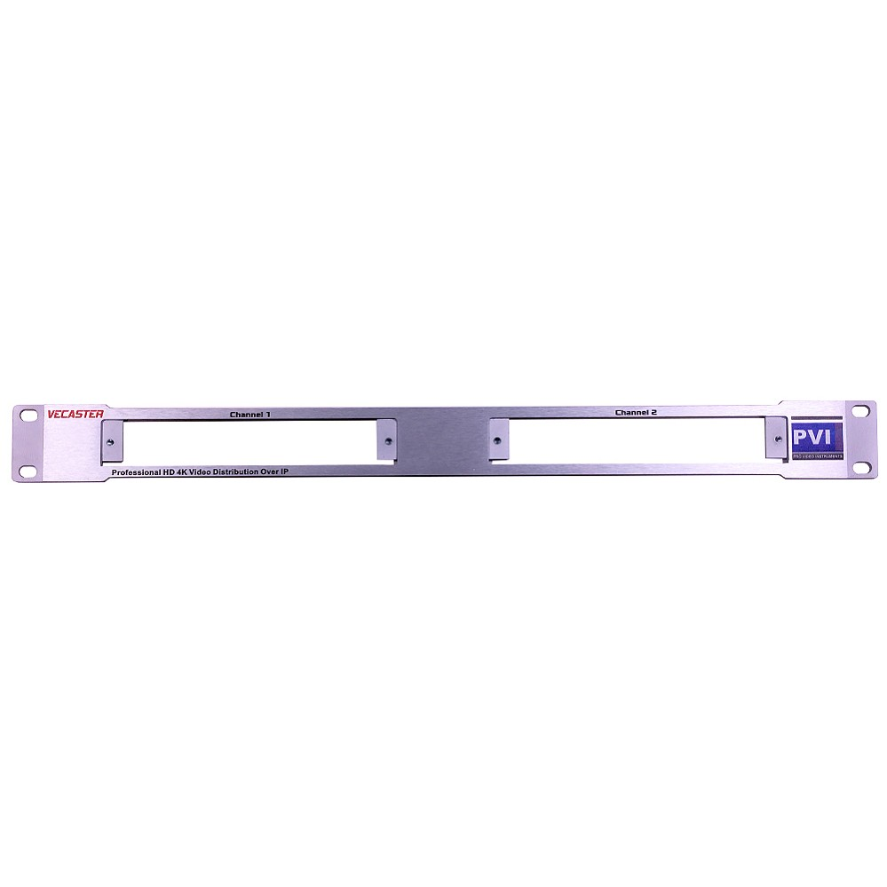 Rack Plate for VeCASTER - Install 1-2 VeCASTER IPTV Encoders in just 1RU  Rack Space VECASTER-RACK-KIT