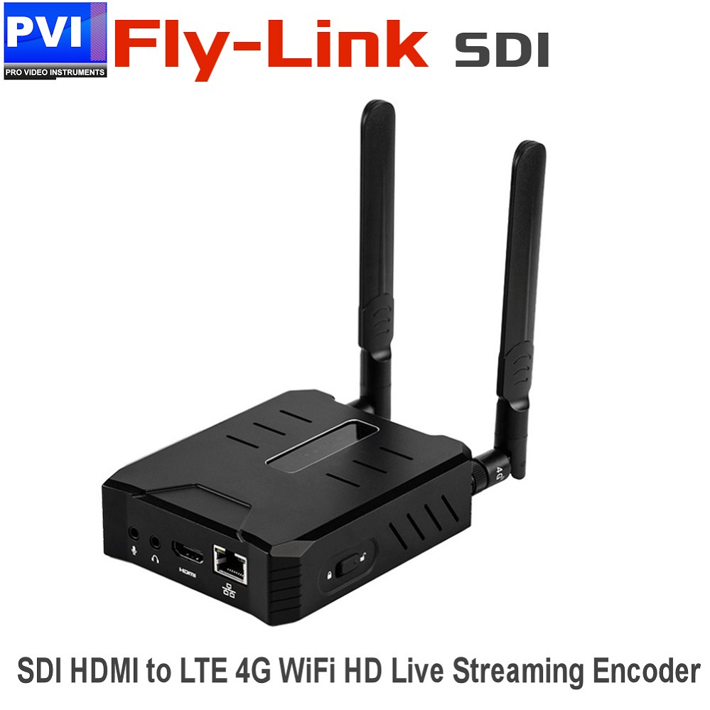 FLY-LINK-HD-SDI Professional LTE 4G WIFI SDI HDMI Live Streaming Encoder  Server HEVC H 265 H 264 for Mobile Live Streaming and Drones applications