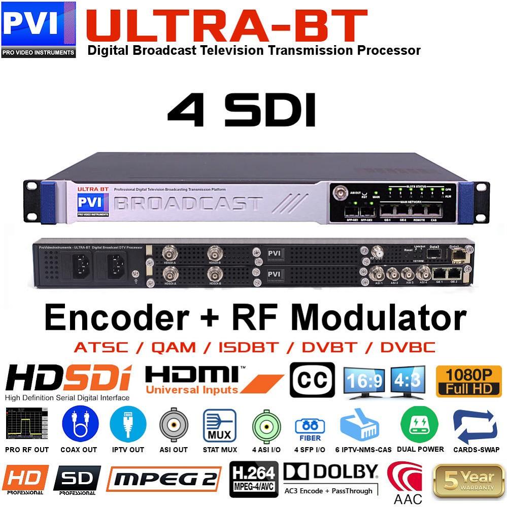 VeCOAX ULTRA-BT 4 SDI | 4 Channels HD SDI Video Broadcast Encoder